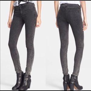 Rag & Bone Justine Skinny Pants in Rosebowl Black